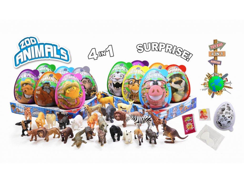 P-vaj.ZOO Animals Toy egg 21g (8x6)